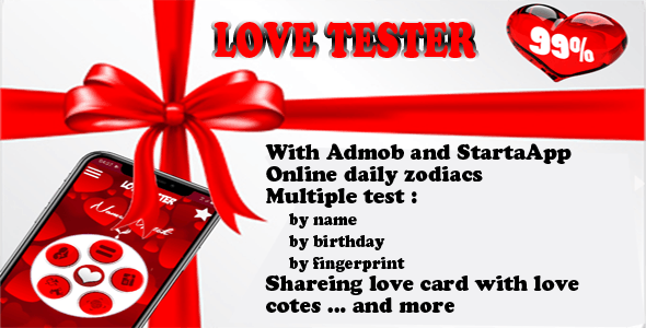 love tester and daily zodiacs