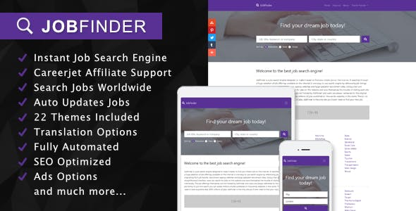 JobFinder - Job Search Engine Affiliate Script