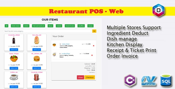 Restaurant Point of Sale - Rest POS WEB - CodeCanyon Item for Sale