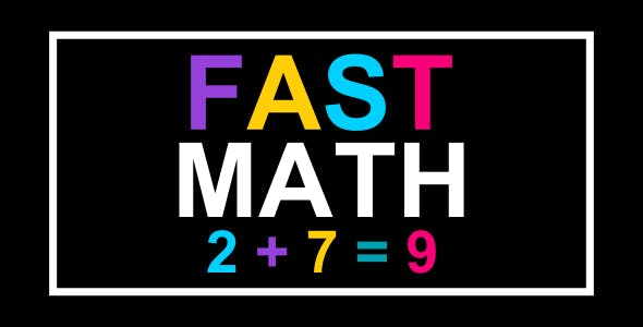 Fast Math | Html5 Mobile Game | android & ios