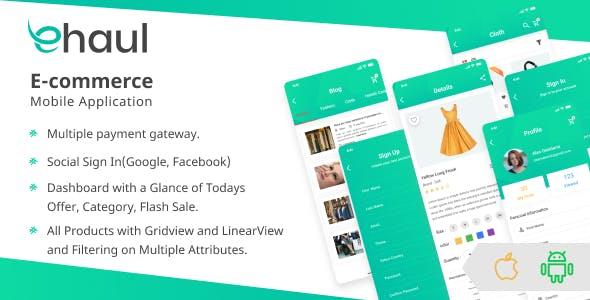 Ehaul - Flutter E-Commerce UI KIT Template