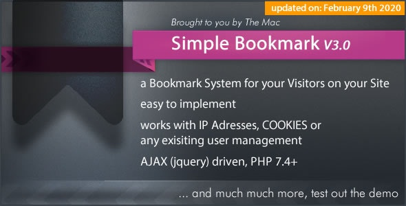 Simple Bookmark - CodeCanyon Item for Sale