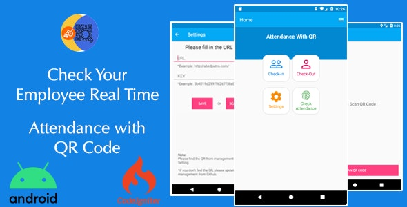 Attendance with QR code - Android + System Management - CodeCanyon Item for Sale
