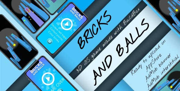 'Bricks and Balls' - iOS full 3D game