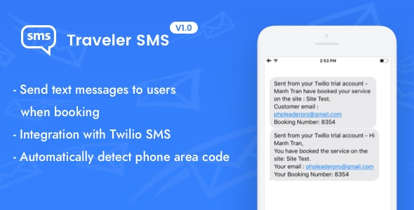 Traveler SMS (Add-on) - CodeCanyon Item for Sale
