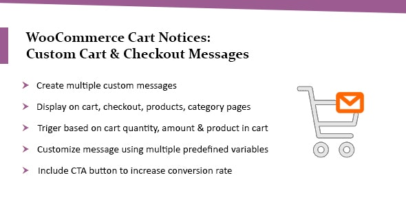 WooCommerce Cart Notices: Custom Cart & Checkout Messages - CodeCanyon Item for Sale
