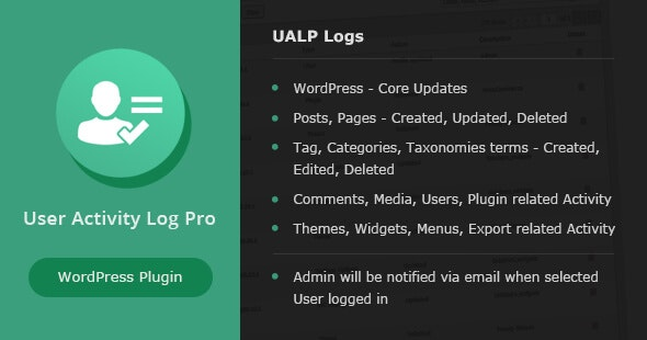 User Activity Log PRO for WordPress - CodeCanyon Item for Sale