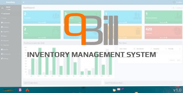 qBill - Inventory Management System - CodeCanyon Item for Sale