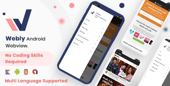 Webly – Webview Convert your website into native android app
