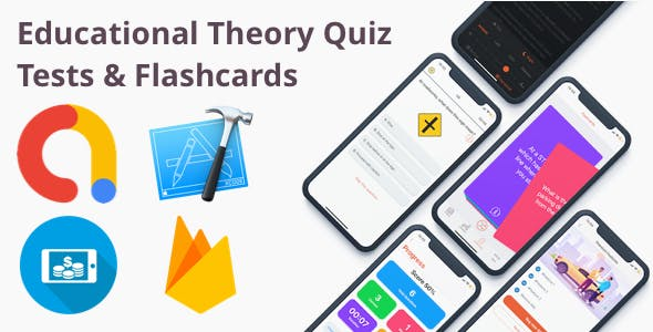 Educational School Theory Quiz Tests & Flashcards iOS App