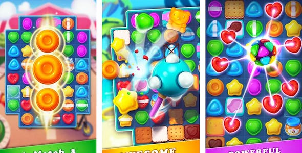 candy match 3 color game