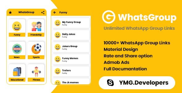 WhatsGroup App with Admob Ads