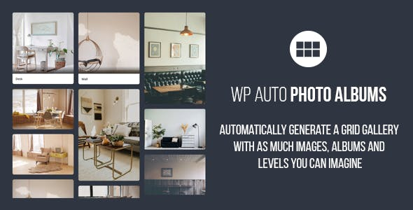 WP Auto Photo Albums – Multi Level Image Grid Gallery