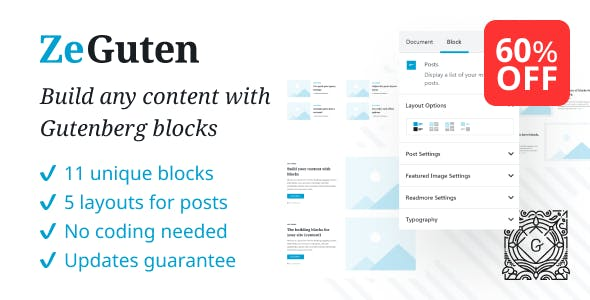 ZeGuten — Blocks for Gutenberg