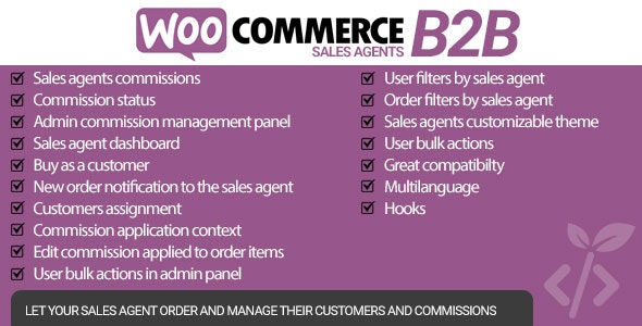 WooCommerce B2B Sales Agents - CodeCanyon Item for Sale