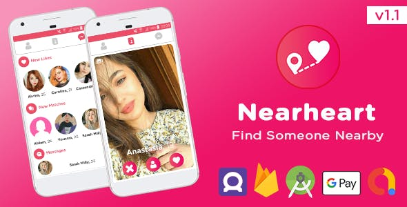 Nearheart - Android Dating App with Facebook & Admob Ads, Subscriptions, Purchases v1.1