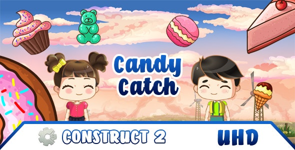 Candy Catch - HTML5 game (.capx) & Android & iOS - CodeCanyon Item for Sale