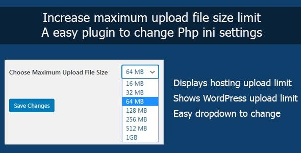 Increase Maximum Upload File Size in WordPress - CodeCanyon Item for Sale