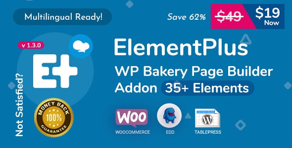 Element Plus - WPBakery Page Builder Addon (Formerly Visual Composer) - CodeCanyon Item for Sale