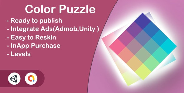 Color Puzzle (Unity Complete+Admob+InApp+iOS+Android) - CodeCanyon Item for Sale