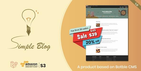 Simple Blog - Laravel Blog Script based on Botble CMS - CodeCanyon Item for Sale
