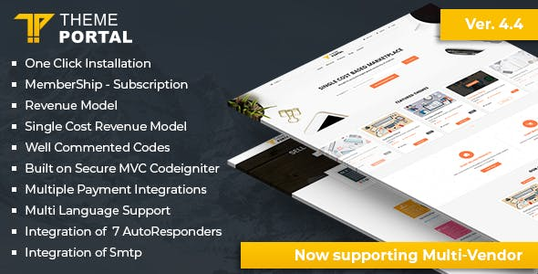 Theme Portal Marketplace - Sell Digital Products ,Themes, Plugins ,Scripts - Multi Vendor