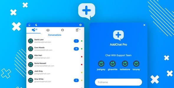 AddChat Laravel Pro - Live Chat Widget + Multi-User Chat + Customer Support