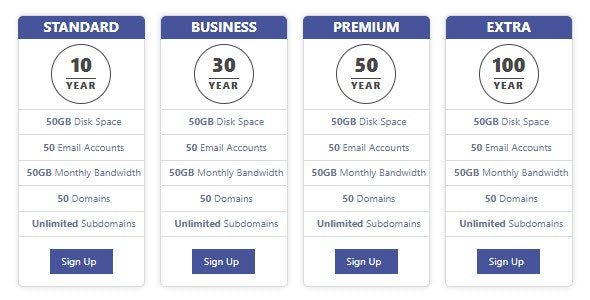 Multi Color Pricing Table - CodeCanyon Item for Sale