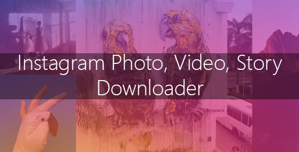 Instagram Image-Video and Story Downloader - CodeCanyon Item for Sale