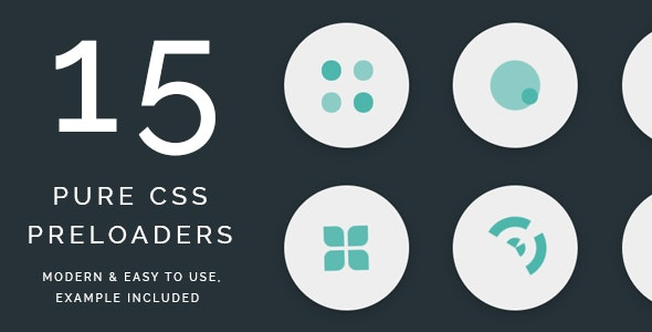 Collection of 15 Pure CSS Page Preloaders - CodeCanyon Item for Sale