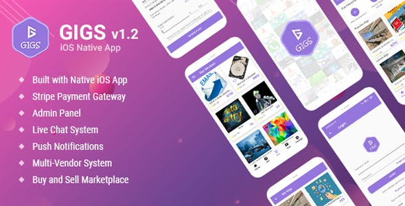 Gigs (Services Marketplace App) - Fiverr & Freelance Clone - Native iOS Application