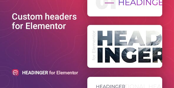 Customizable headings for Elementor – Headinger