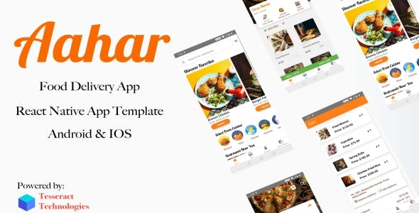 Aahar - Food Delivery App - React Native Template for Android & IOS