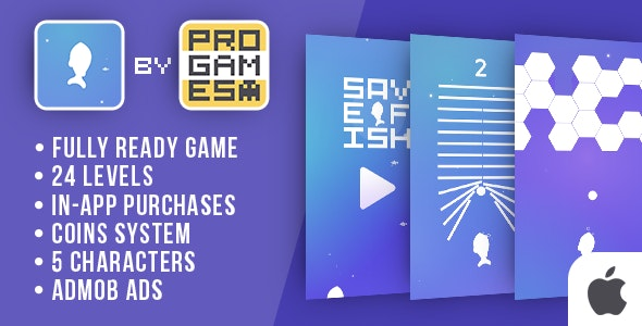 Save Fish (Rise UP) - IOs game - Easy To Reskine - CodeCanyon Item for Sale