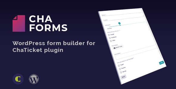 ChaForms - Form Builder For ChaTicket Plugin - CodeCanyon Item for Sale