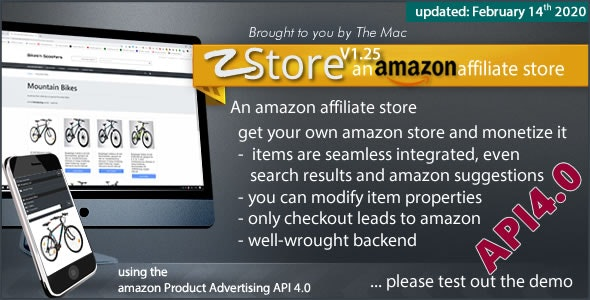 zStore - an amazon affiliate Store - PA API 4.0 - CodeCanyon Item for Sale