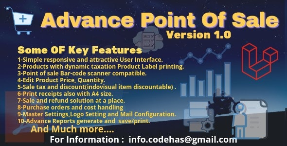 Advance Point Of Sale - CodeCanyon Item for Sale
