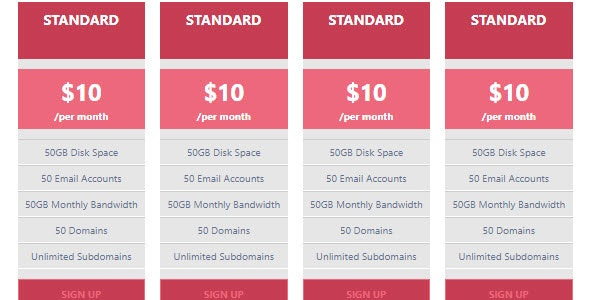 Advanced Pricing Table - CodeCanyon Item for Sale