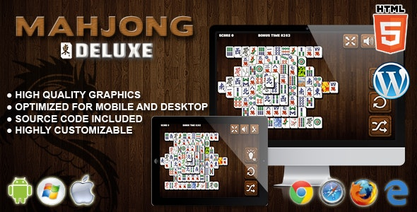 Mahjong Deluxe - HTML5 Game - CodeCanyon Item for Sale