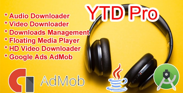 Youtube Audio Video Downloader - With AdMob - CodeCanyon Item for Sale
