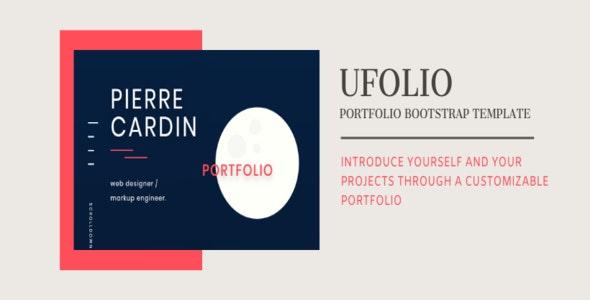 UFOLIO - portfolio bootstrap template - CodeCanyon Item for Sale