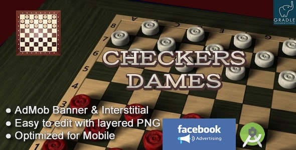 Checkers - Dames V2 (Facebook Ads + Android Studio) - CodeCanyon Item for Sale