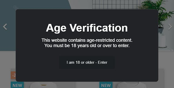 Prestashop Age Verification