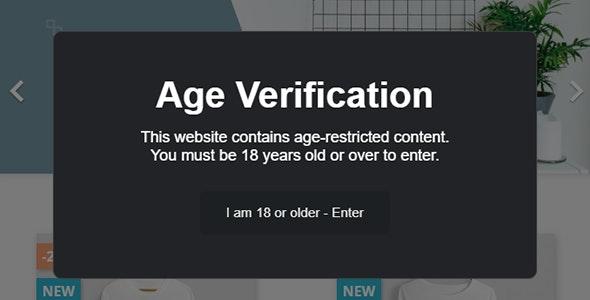 Prestashop Age Verification - CodeCanyon Item for Sale