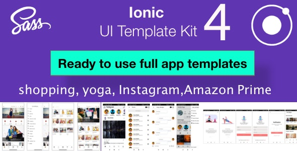 Ionic 4 UI template pack - CodeCanyon Item for Sale