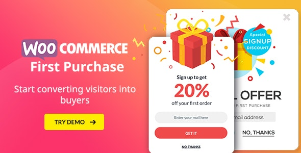 WooCommerce First Purchase Discount Promotion - Subscribe Popup - Coupon Emails - CodeCanyon Item for Sale