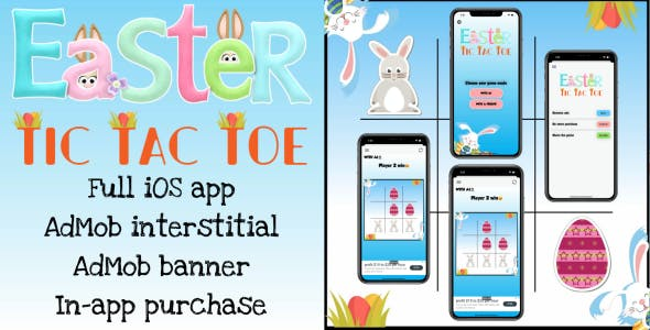 'Easter Tic Tac Toe' - Full iOS Application