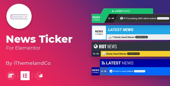 News Ticker For Elementor