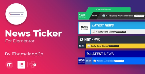 News Ticker For Elementor - CodeCanyon Item for Sale