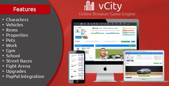 vCity - Online Browser Game Engine